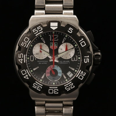 TAG Heuer Formula 1 Stainless Steel Quartz Chronograph Wristwatch
