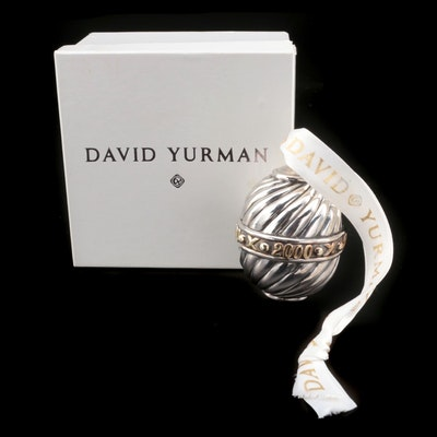 David Yurman Sterling Silver Ornament with Box and Dust Cover, 2000