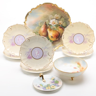 "Rosenthal ""Cameo"" Porcelain Plates with Other Continental Hobbyist Porcelain"
