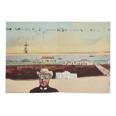 """Saul Steinberg Offset Lithograph for """"Derrière le Miroir"""", 1969"""