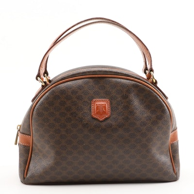 Céline Dome Satchel in Macadam Monogram Canvas and Leather, Vintage