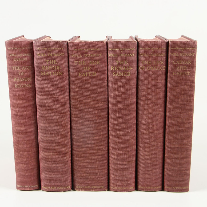 """The Story of Civilization"" by Will Durant, Partial Set including First Editions"