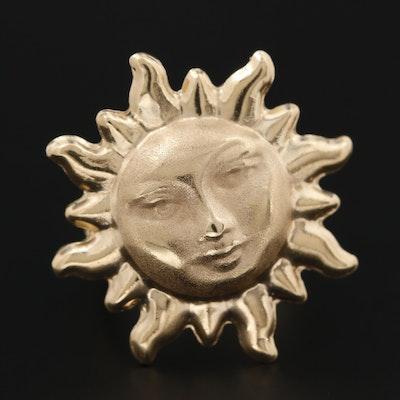 14K Yellow Gold Sun Ring