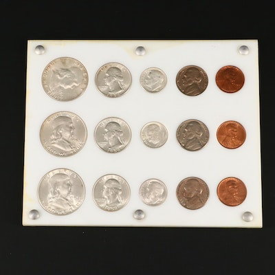 1954 U.S. Coin P, D, and S Mint Marked Set