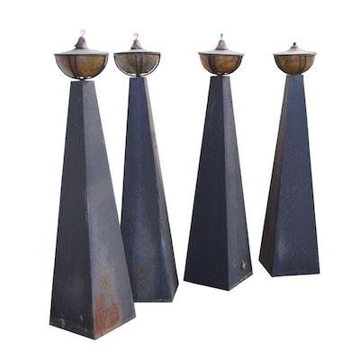 Patio Pyramid Tiki Torch Set
