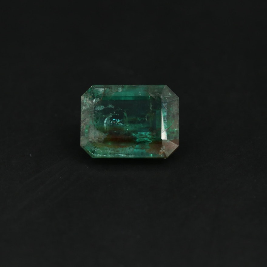Loose 1.60 CT Emerald Gemstone
