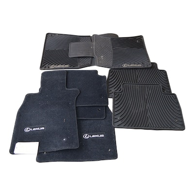 Lexus LS460 Black Fabric Car Mat Set and Rubber Slush Mat Set
