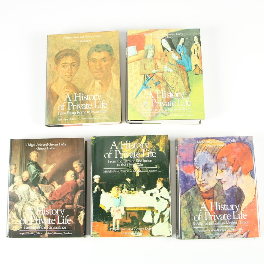 """""""A History of Private Life"""" Five-Volume Set"""