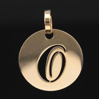 "14K Yellow Gold ""O"" Pendant"