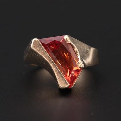 14K Yellow Gold Corundum Freeform Ring