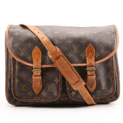 Louis Vuitton Sac Gibeciere Messenger Bag in Monogram Canvas and Leather