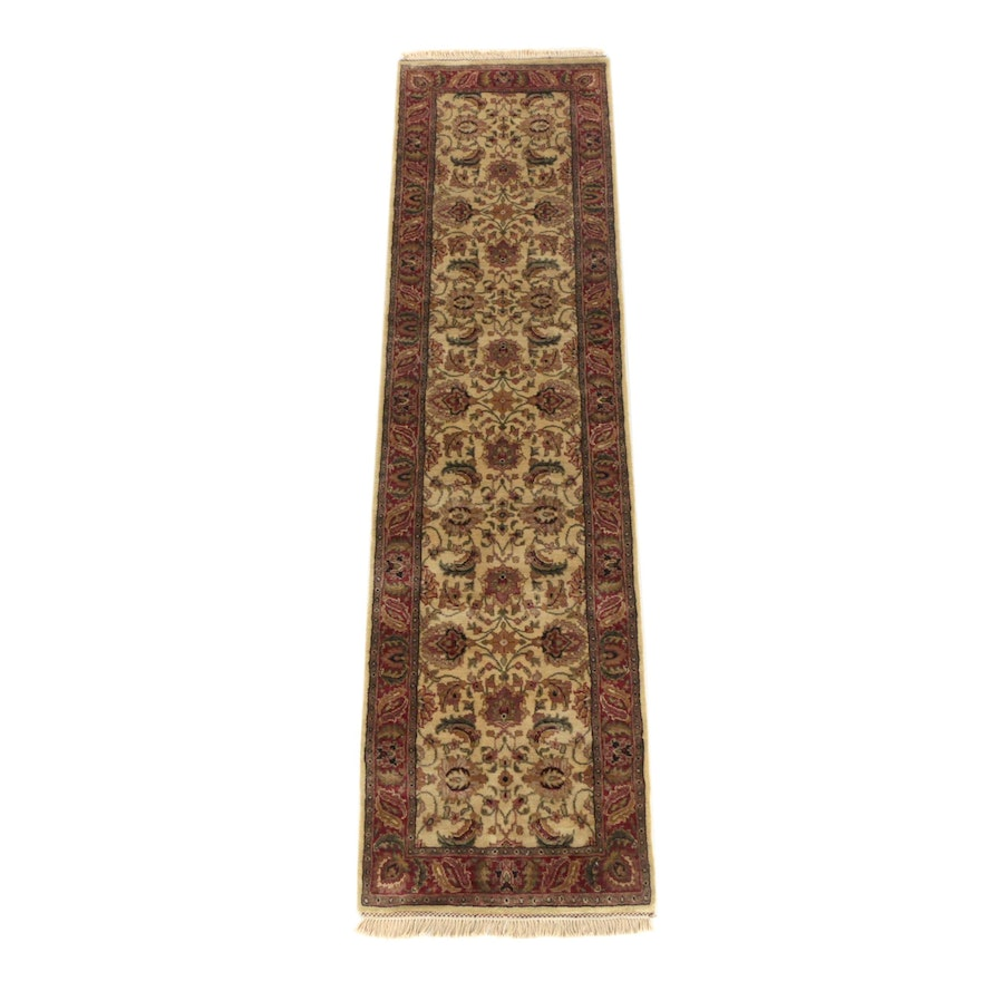 Hand-Knotted Indian Jaipur Wool Carpet Runner