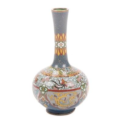 Japanese Meiji Period Cloisonné Vase