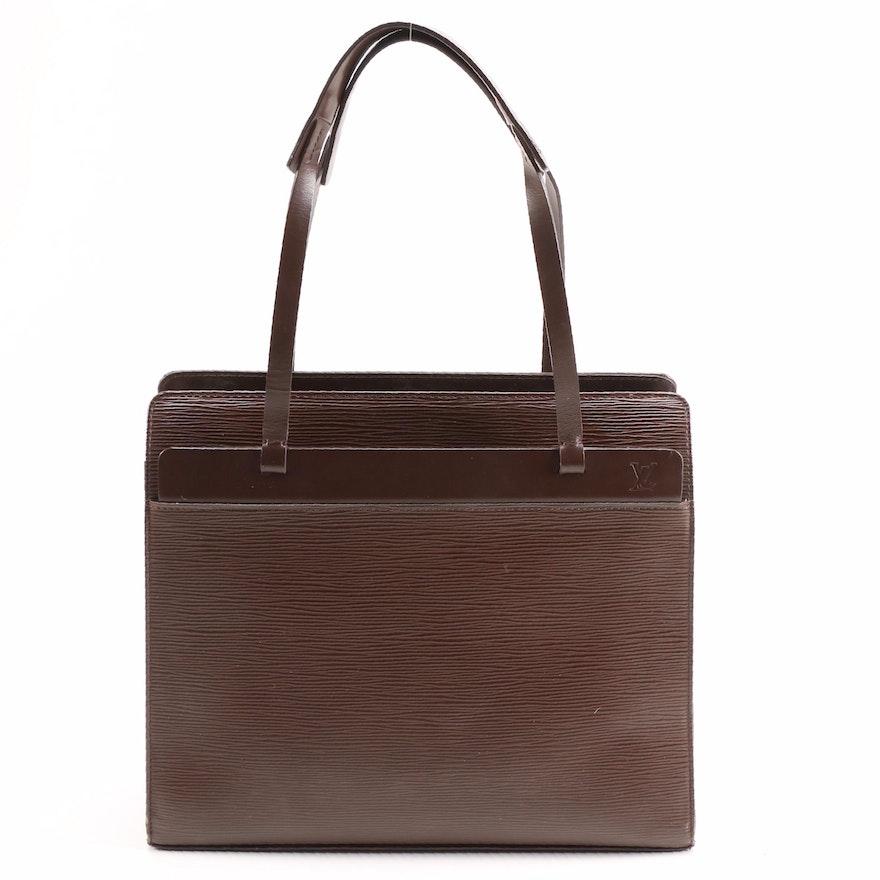 Louis Vuitton Croisette Shoulder Bag in Moka Epi Leather