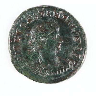 Ancient Roman Imperial AE Follis of Constantius II, ca. 340 A.D.