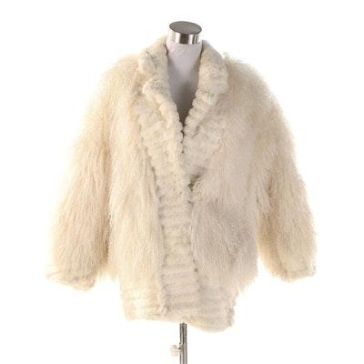 Mongolian Lamb Fur Jacket from Maison Blanche