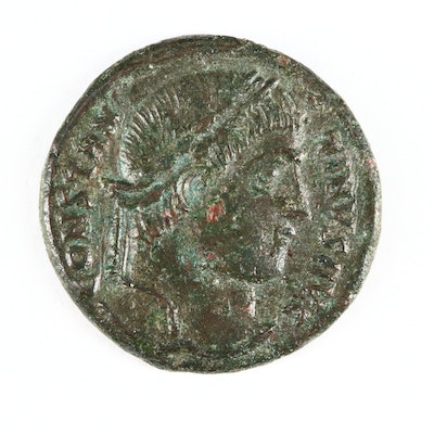 "Ancient Roman Imperial AE Follis of Constantine I, ""The Great,"" ca. 325 A.D."