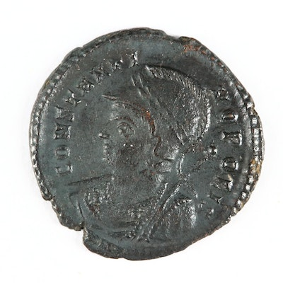 Ancient Roman Imperial Constantinople Commemorative AE Follis, ca. 330 A.D.
