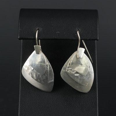 Signed Sterling Silver Dangle Earrings
