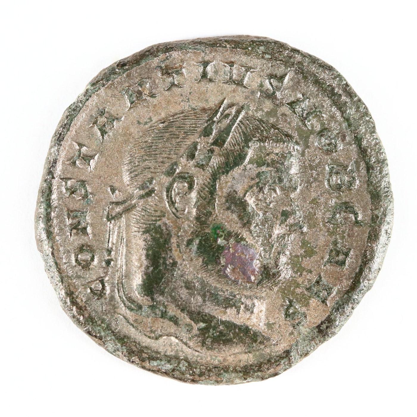 Roman Imperial Constantius I Chlorus AE Follis Portrait
