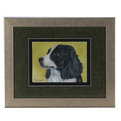 Joseph Veillette Oil Painting of Dog