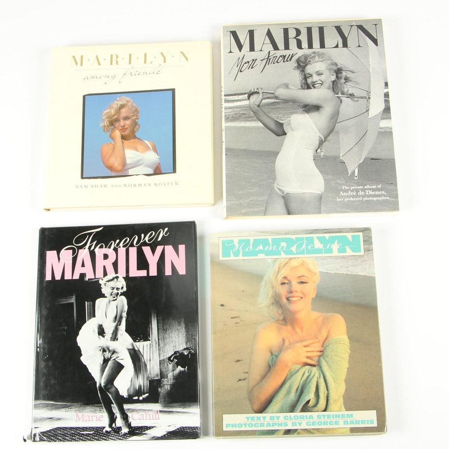 """First American Edition """"Marilyn Mon Amour"""" with Other Marilyn Monroe Books"""