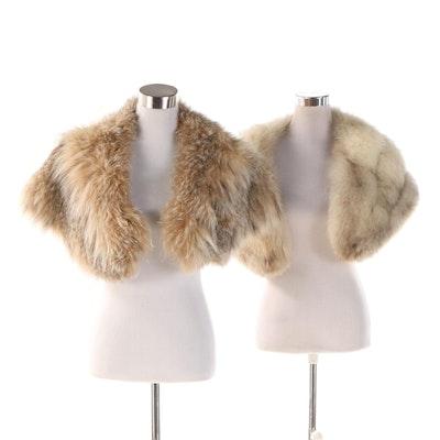 Lynx Fur and Blue Fox Fur Stoles, Vintage