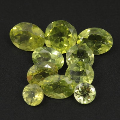 Loose Peridot Gemstones