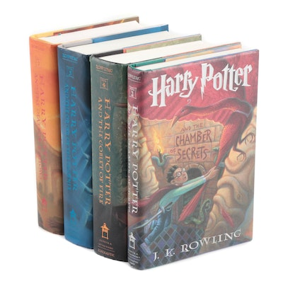 """First American Edition """"Harry Potter"""" Books, Four Volumes"""