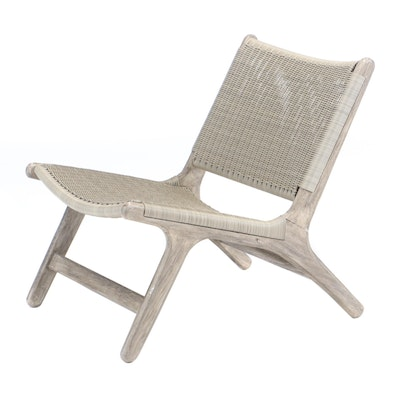 "CO9 Design ""Arden"" Pre-Greyed Teak Lounge Chair, Contemporary"