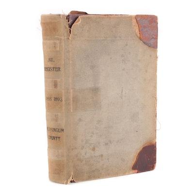 Muskingham County Ohio Jail Register, 1888 - 1892