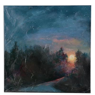 Sue Dion Nocturne Landscape Acrylic Painting