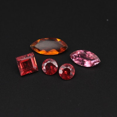 Loose Tourmaline and Garnet Gemstones