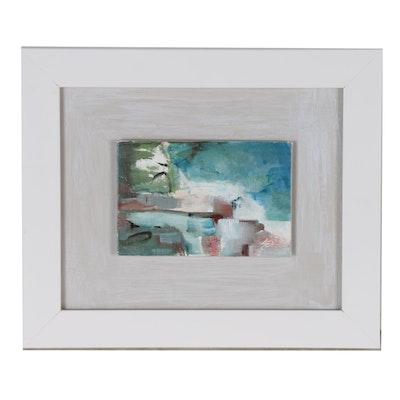 """Sue Dion Acrylic Painting """"Pueblo"""", 2019"""