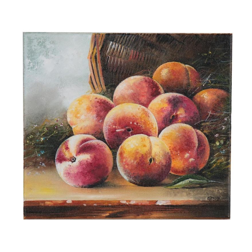 "Alexander Nakonechny Oil Painting ""Peaches"""