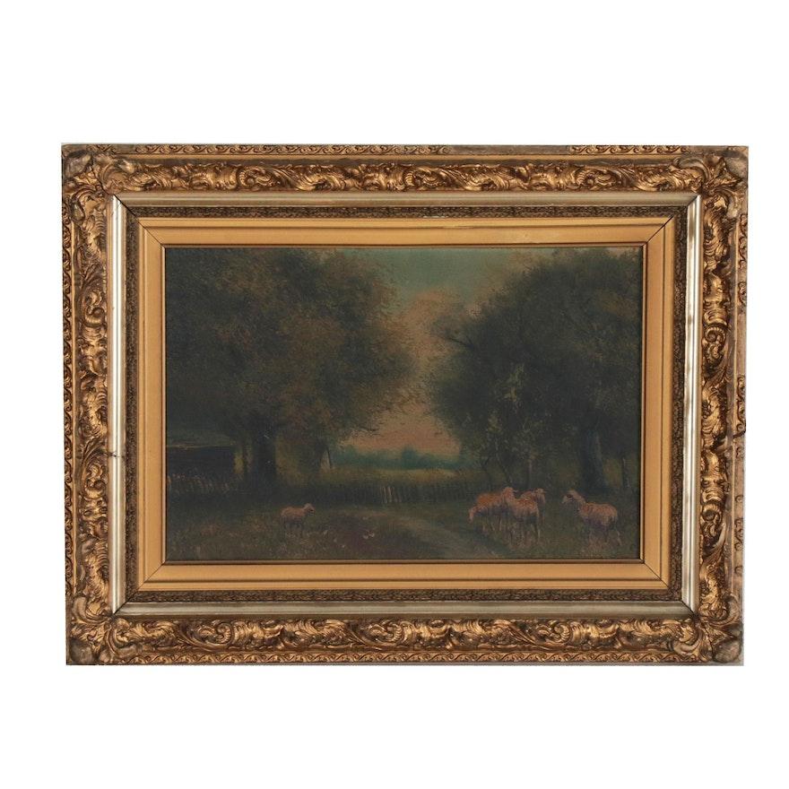 Jacques Durant Pastoral Oil Painting