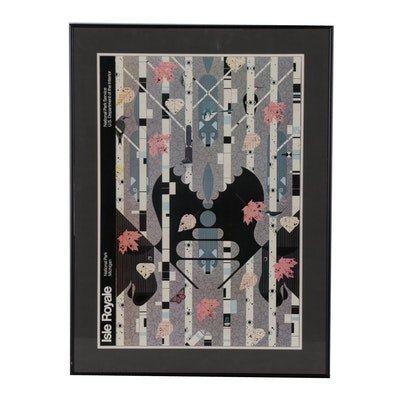 """Offset Lithograph after Charley Harper """"Isle Royale"""""""