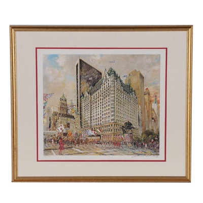 "Kamil Kubik Offset Lithograph ""The Plaza Hotel"""