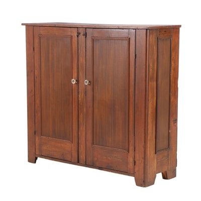 American Blind-Door Country Cupboard, Second Half 19th Century