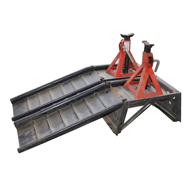Balkamp Car Ramps and Three-Ton Jack Stands