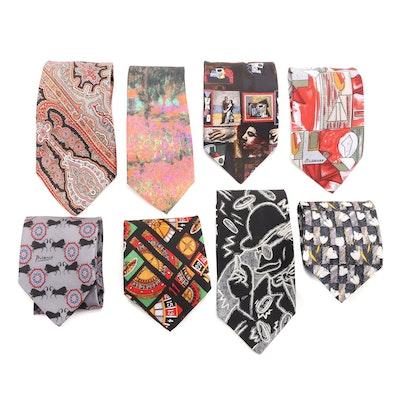 Ermenegildo Zegna Silk Necktie and Other Neckties