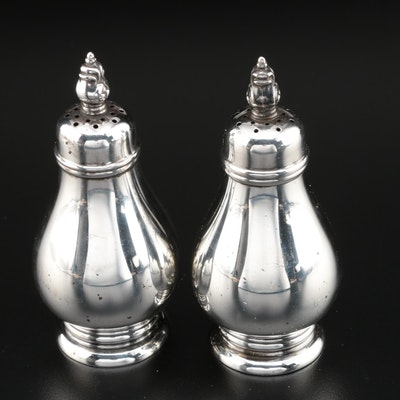 "International Silver ""Royal Danish"" Sterling Salt and Pepper Shakers"
