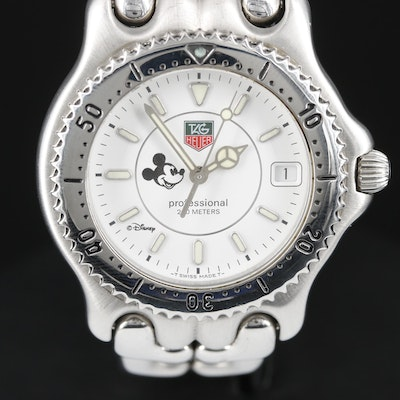 TAG Heuer Professional 200m SE/L Mickey Mouse Dial Stainless Steel Wristwatch