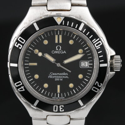 Omega Seamaster Stainless Steel 200M Quartz Wristwatch, Circa 1990