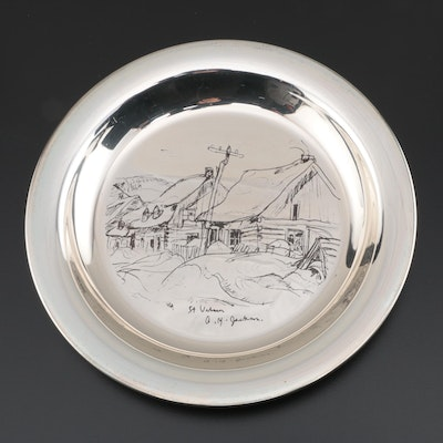 """Wellings Mint Limited Edition A. Y. Jackson """"St. Urbain"""" Sterling Silver Plate"""