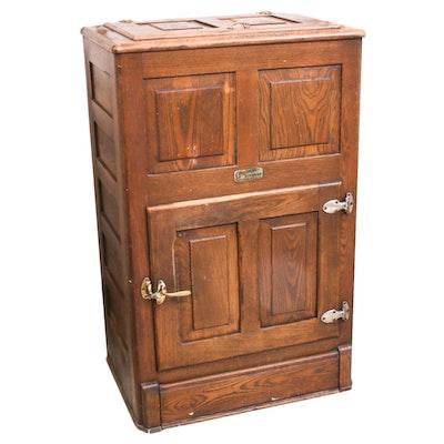 Challenge Iceburg Oak Ice Box, Late 19th Century