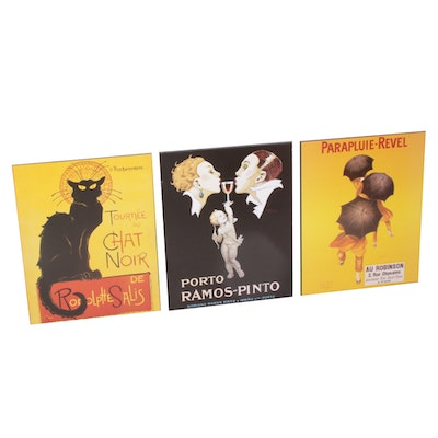 Lithographs After Théophile Steinlen, Leonetto Capiello and René Vincent