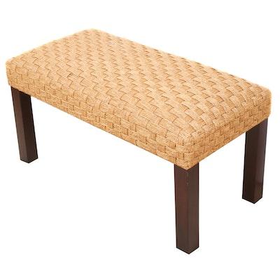 Rattan Woven Bench, Contemporary