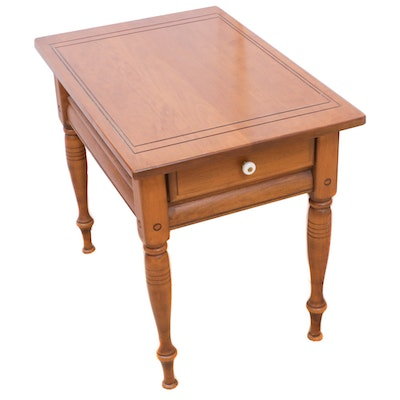 Sprague & Carleton Rock Maple End Table, Mid to Late 20th Century