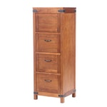 Arhaus Four Drawer Oak File Cabinet, 21st Century